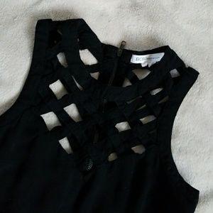 BCBGeneration black hi low strappy dress